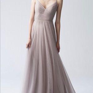 Jenny Yoo Brielle Dress in Mayan Blue, Size 6